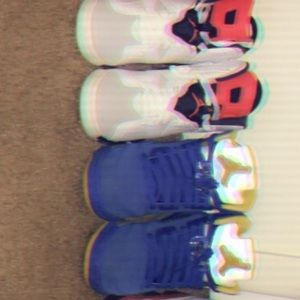 Jordan 5s are size 6.5 and Jordan 6s or size 7